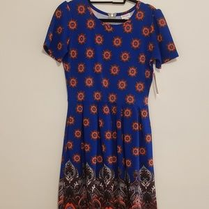 NWT lularoe Amelia A line dress medallion